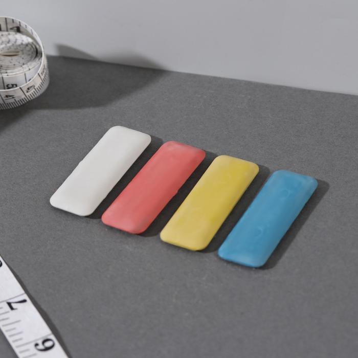 Мел портновский, восковой, 4 шт, цвет разноцветный