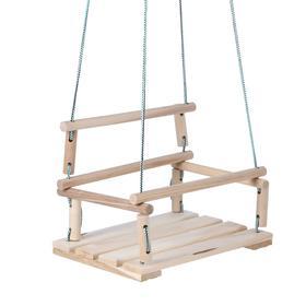 Качели детские подвесные, деревянные, сиденье 30×40см