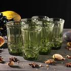 """Набор стаканов 350 мл """"Ла-Манш"""", 6 шт, цвет зеленый"""