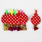 Набор для праздника «Горох», скатерть 180х108 см, 6 тарелок, 6 язычков, цвет красный - фото 1966490