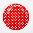 Набор для праздника «Горох», скатерть 180х108 см, 6 тарелок, 6 язычков, цвет красный - фото 951150