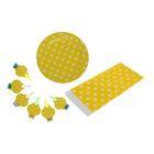 """Набор для праздника """"Горох"""", скатерть 180*108 см, 6 тарелок, 6 язычков, цвет жёлтый"""