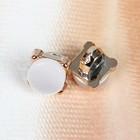 Пуговица декоративная «Капля», d=10 мм, на ножке, цвет белый/золотой