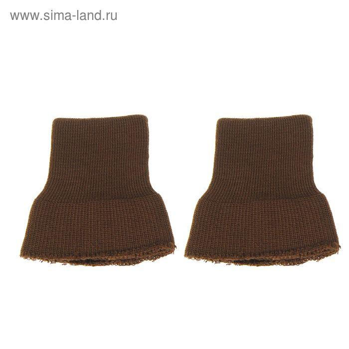 Трикотажные манжеты, цвет коричневый