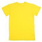 Футболка детская, рост 164 см (14 лет), цвет лимонный Н116