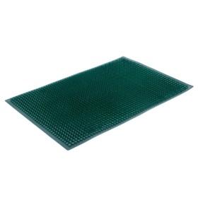 Покрытие ковровое щетинистое «Травка», 39×59 см, цвет тёмно-зелёный - фото 4657002