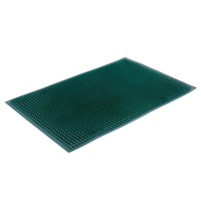 """Покрытие ковровое щетинистое 39х59 см """"Травка"""" цвет темно-зеленый"""