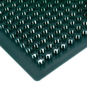 Покрытие ковровое щетинистое «Травка», 39×59 см, цвет тёмно-зелёный - фото 4657003