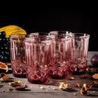 """Набор стаканов 350 мл """"Ла-Манш"""", 6 шт, цвет розовый"""