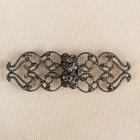 Декоративная застёжка «Узор», 6,5см, цвет чёрный