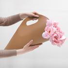 Упаковка для букетов и композиций 50 х 29 х 12 см, цвет коричневый