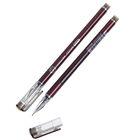 Ручка гелевая, 0.38 мм, чёрная, корпус бордовый, бесстержневая, игольчатый пишущий узел, «Кристалл»