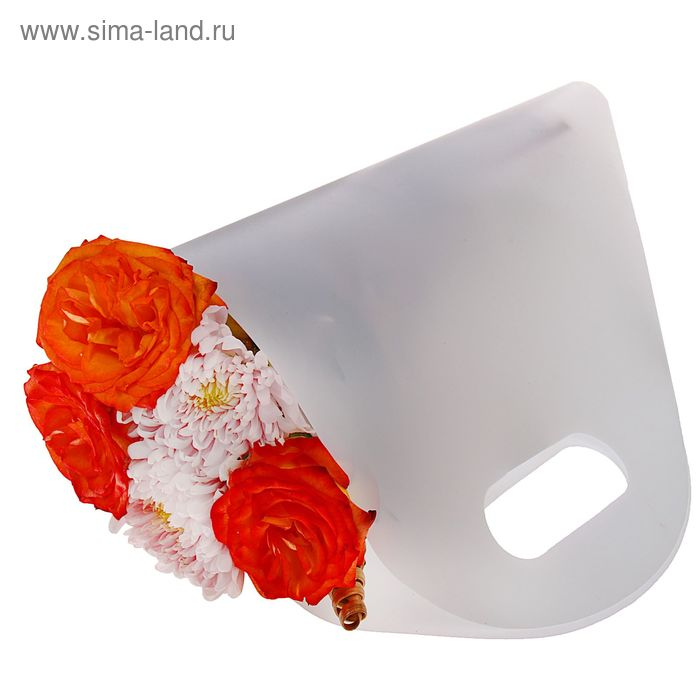Упаковка для букетов и композиций 50 х 29 х 12 см, цвет белый