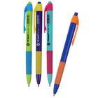 Ручка шариковая авт 0,5мм Vinson корпус МИКС Смарт с резин держ стержень масляный синий