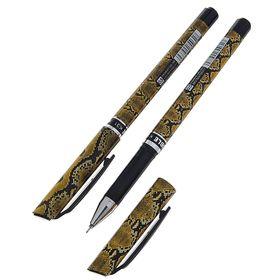 Ручка гелевая, 0.5 мм, чёрная, игольчатый пишущий узел, «Змея»