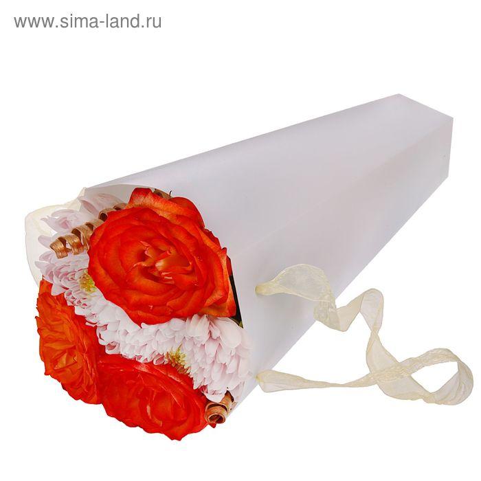 Упаковка для букетов и композиций 33 х 13 х 13 см, цвет белый