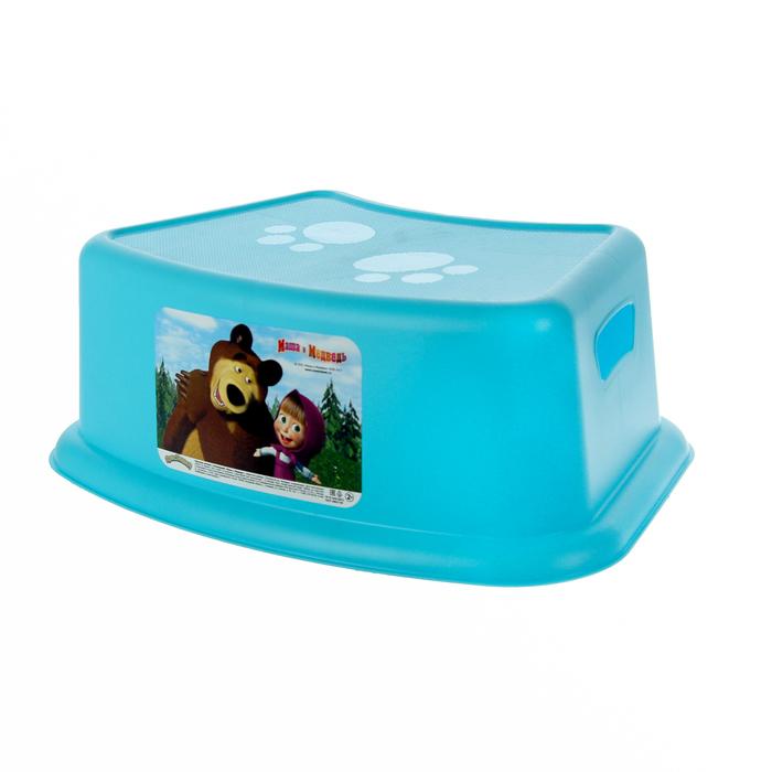 Подставка детская «Маша и медведь», цвет голубой