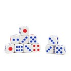 Dice 1.2x1.2 cm, packing 100 PCs