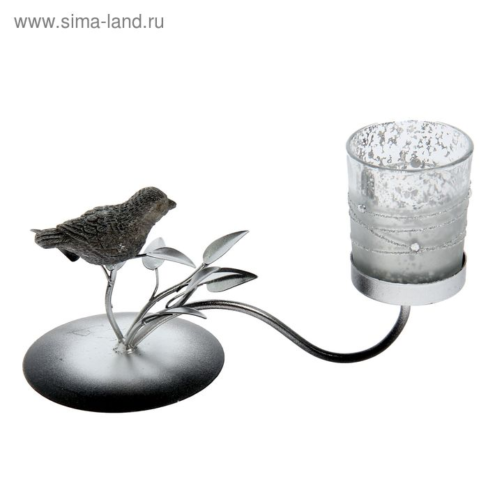 """Подсвечник """"Птица на ветке"""" 1 свеча"""