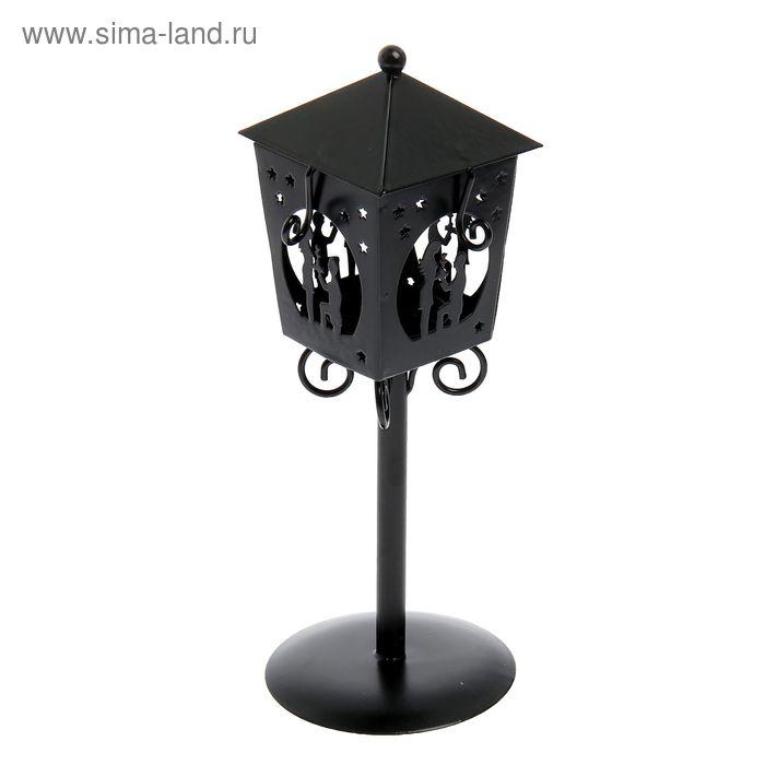 """Подсвечник """"Предложение"""" 1 свеча, чёрный"""