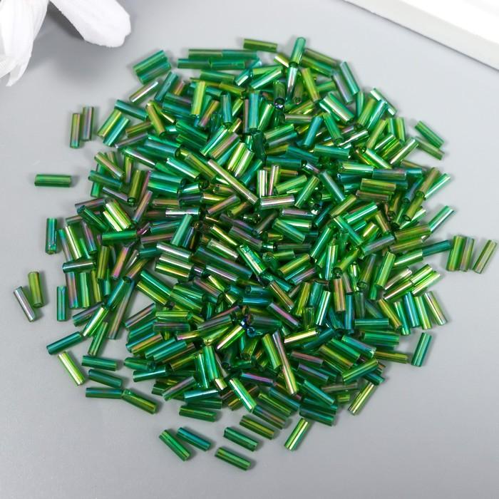 """Стеклярус """"Бутылочно-зелёный"""" 6 мм, 20 г"""