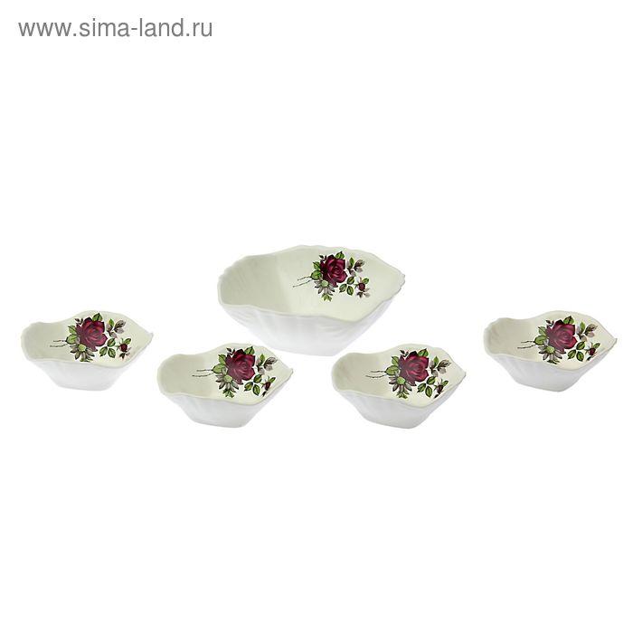 """Набор салатников """"Черная роза"""", 5 шт"""