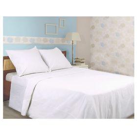 Bed linen 1,5sp Galtex bleached, 150x210 cm, 150x210 cm, 70x70 cm 2pcs, calico 142g / m hl100%