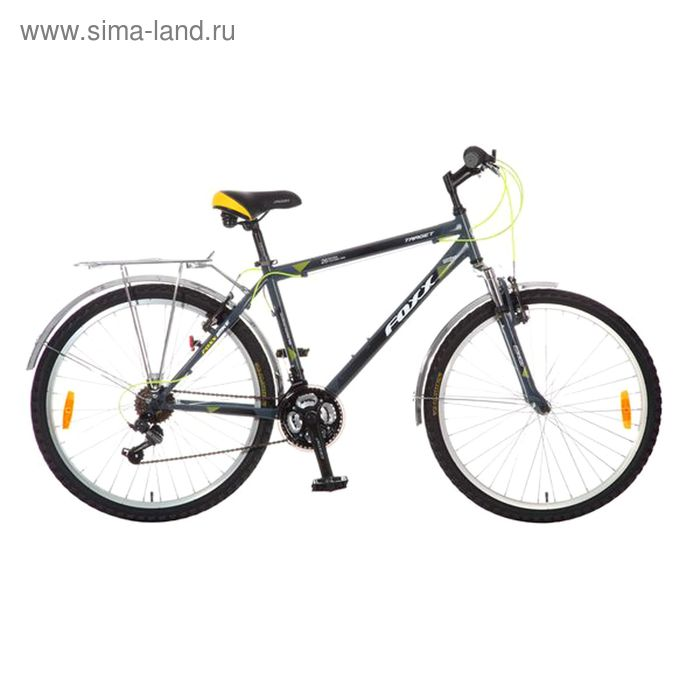 "Велосипед 26"" Foxx Target, 2016, цвет серый, размер 18"""