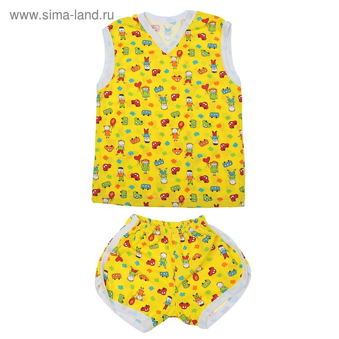 Комплект (безрукавка + шорты) для мальчика, рост 98-104 см, цвет МИКС (арт. К-40-01_Д)