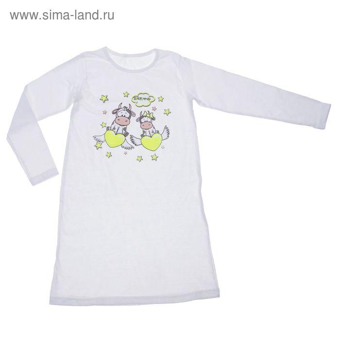 Сорочка ночная для девочки, рост 122 см, цвет молочный (арт. Сн-651-04)