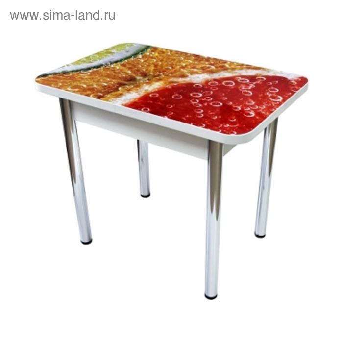 Стол обеденный Прямоугольный 1200х700х750 ф/п Цитрус /Белый