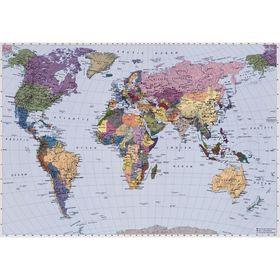 """Фотообои Komar 4-050 """"Карта мира"""", 2,7х1,88 м"""