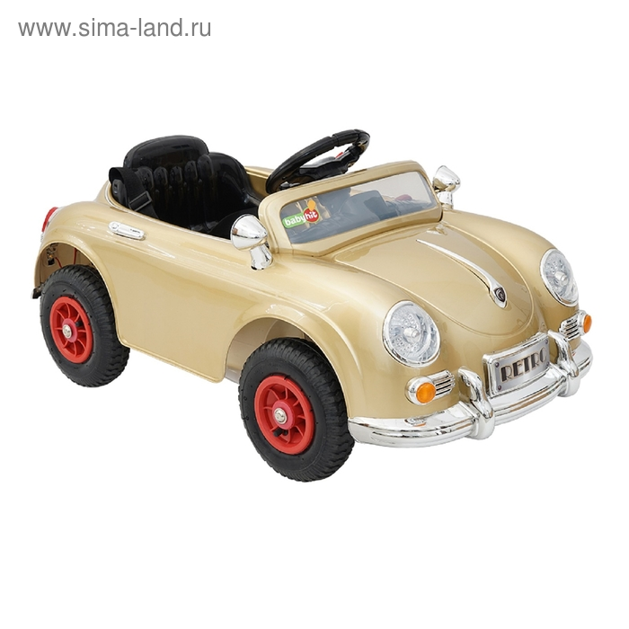 Электромобиль RETRO, цвет золотой