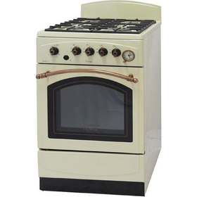Плита газовая Darina 1E6 GM 241 019 Bg, 4 конфорка, 50 л, газовая духовка, белый,
