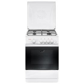 Плита Gefest 1200-С7, газовая, 4 конфорки, 63 л, газовая духовка, белая