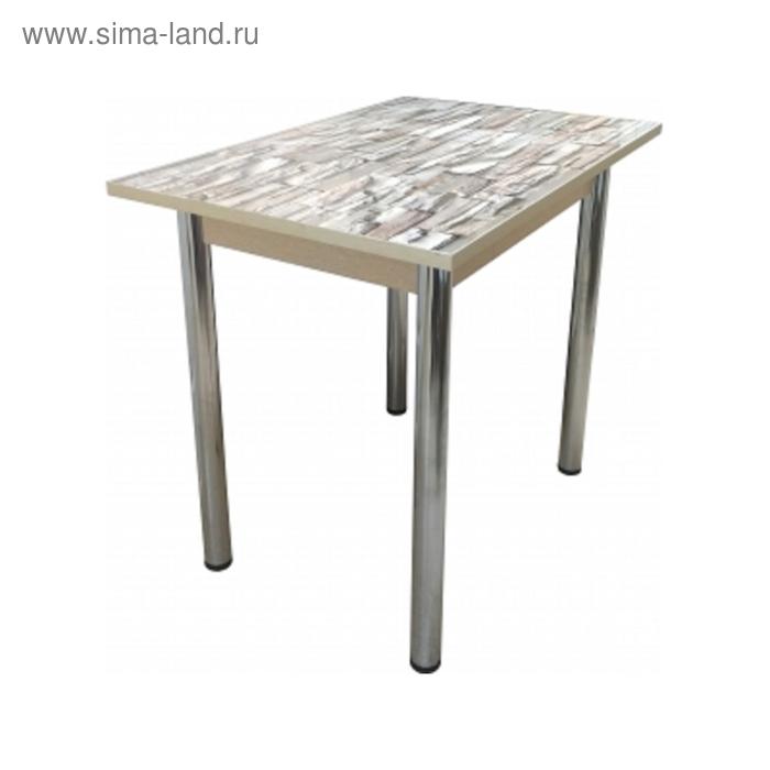 Стол обеденный Прямоугольный 900х600х750 ф/п Св. кирпичики/ дуб выбеленный