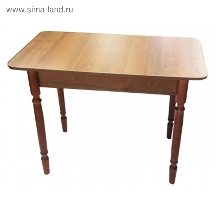 Стол обеденный Прямоугольный  с ящиком 900х600х750 Орех