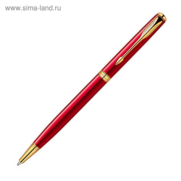 Ручка шариковая Parker Sonnet Slim K439 (1859473) LaqRed GT (F) чернила: черный