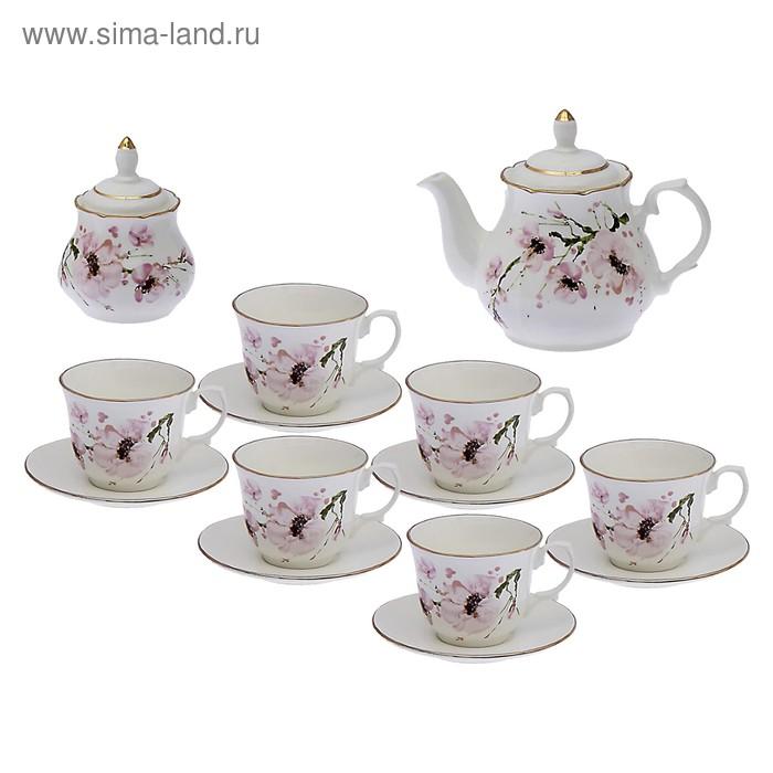 """Сервиз чайный """"Арина. Сакура"""", 14 предметов"""