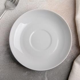 Блюдце, d=14 см, цвет белый