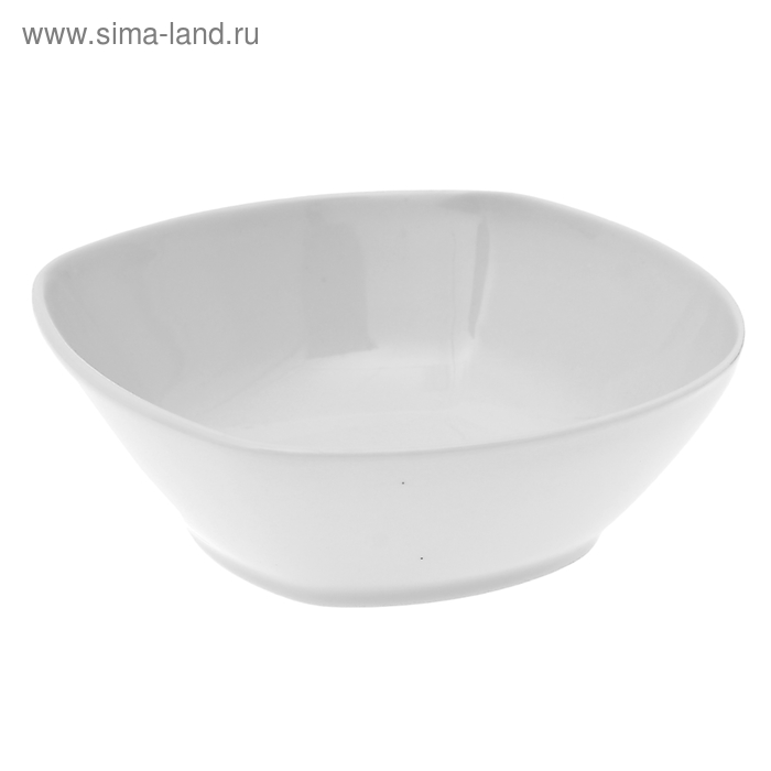 Салатник 300 мл, квадратный, цвет белый