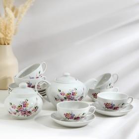Сервиз чайный «Дачный. Багульник», 14 предметов