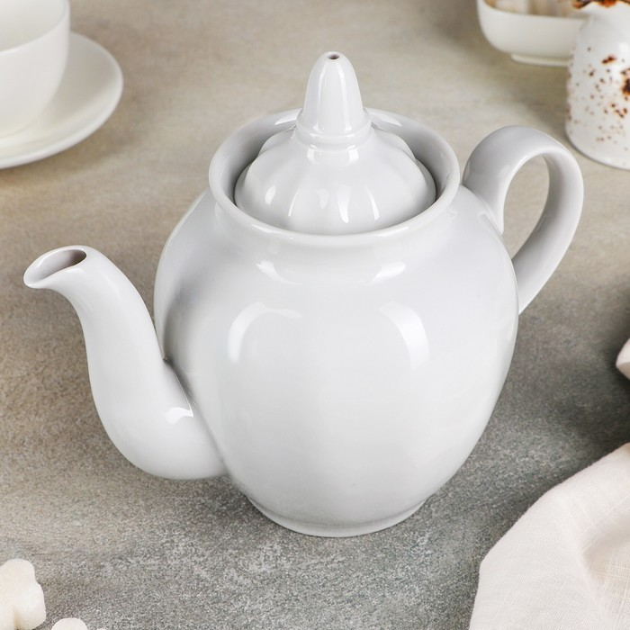 """Чайник 900 мл """"Гранатовый"""", цвет белый - фото 1650286"""