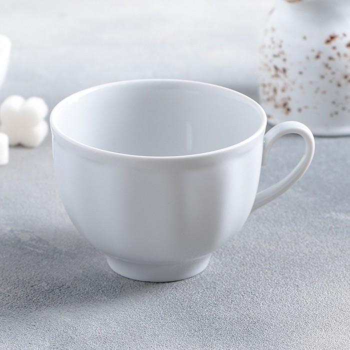 """Чашка чайная 275 мл """"Гранатовый"""", цвет белый"""
