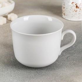 """Чашка чайная 450 мл """"Ностальгия"""", глазурированный край, цвет белый"""