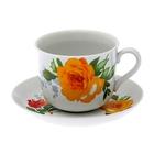 """Чайная пара 450 мл """"Роза"""""""