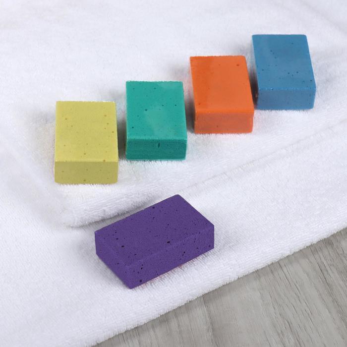 Пемза для педикюра, прямоугольная, цвет МИКС