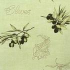 Обои виниловые 1639-5 Erismann-R, оливки на зелёном фоне, 0,53х10м