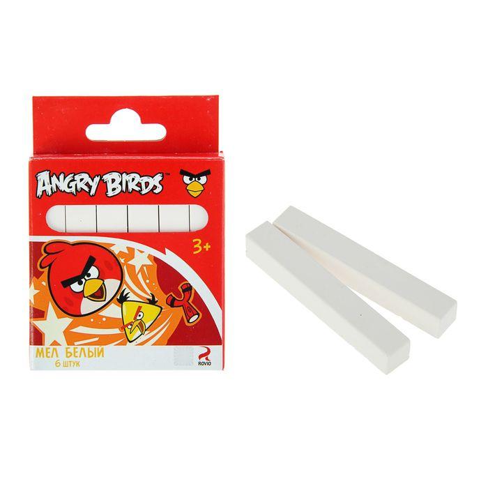 Мелки белые 6 штук Angry Birds