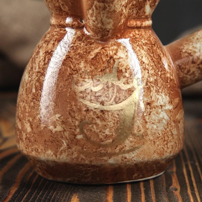 """Турка """"Мрамор"""" коричневая, 0,45 л"""